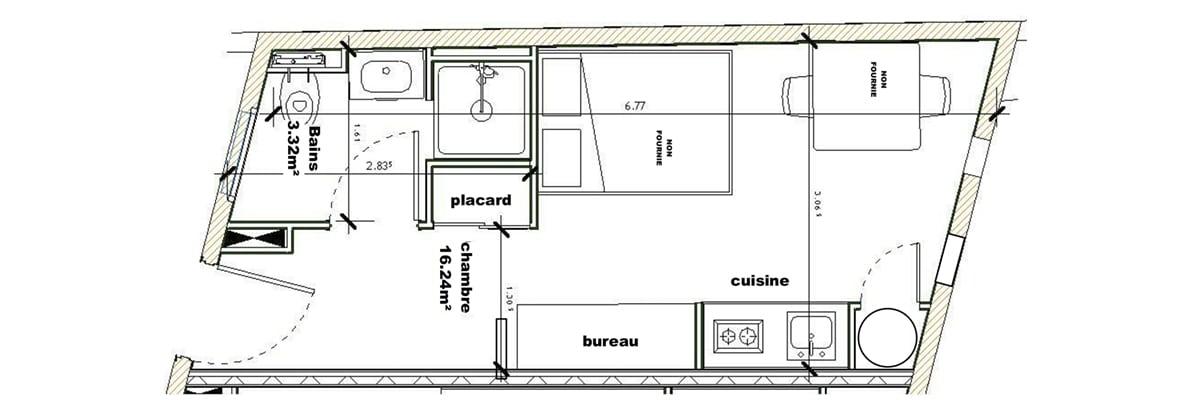 T1 Léonard de Vinci 19,56 m2